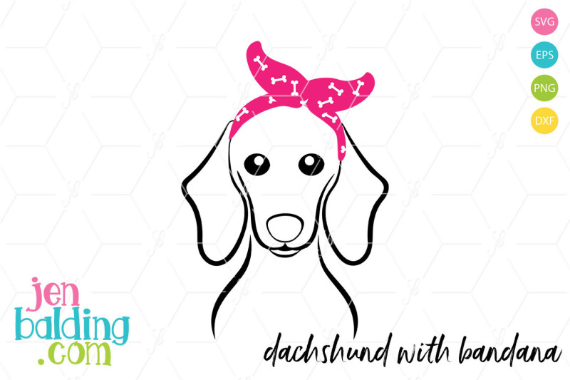 Free Dachshund With Bandana Crafter File Free Commercial Use Svg Cut Files Cutting Files