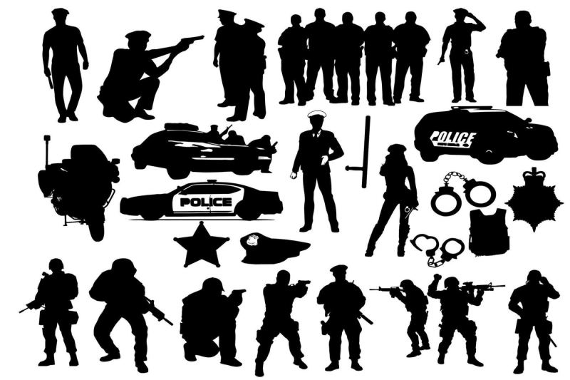 Free Police Silhouettes Crafter File Free Svg Cut Files Png Images