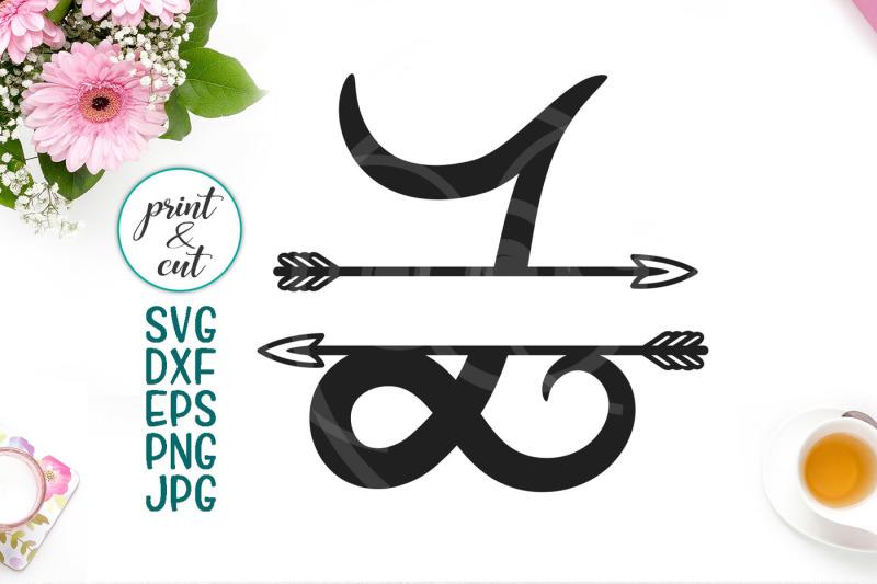 Monogram Letter L Svg File  Split Font With Arrows
