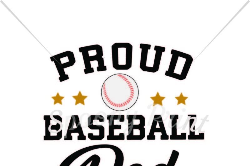 Proud Baseball Dad By Spoonyprint Thehungryjpeg Com