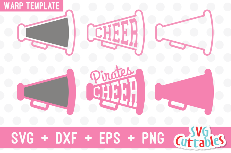 Cheer Cone Cheer Megaphone Warp Template Scalable Vector Graphics Design Download Free 25000 Svg Cut Files