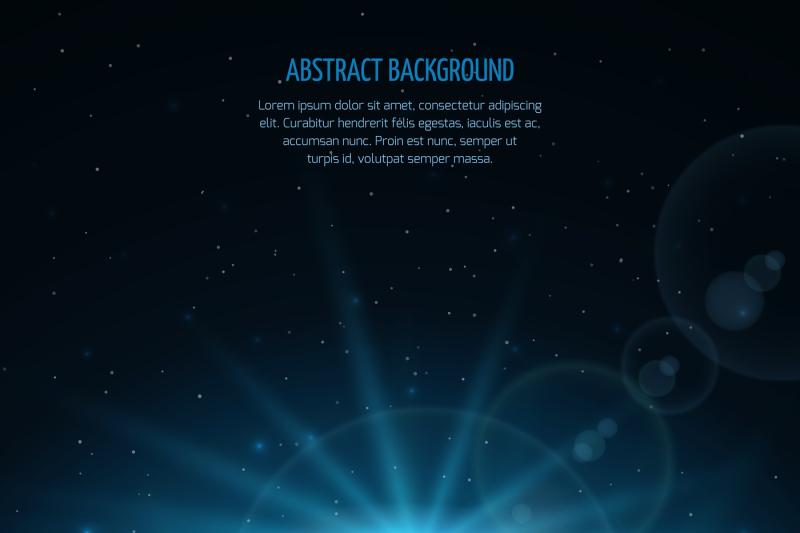Abstract Vector Space Fantastic Background With Planet And Rising