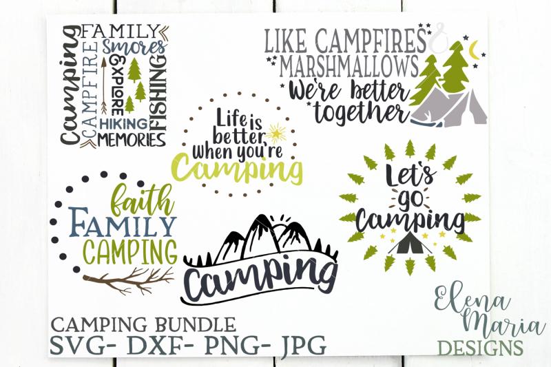 Free Camping SVG Bundle, Camp SVG Files, Summer Svg, Fishing