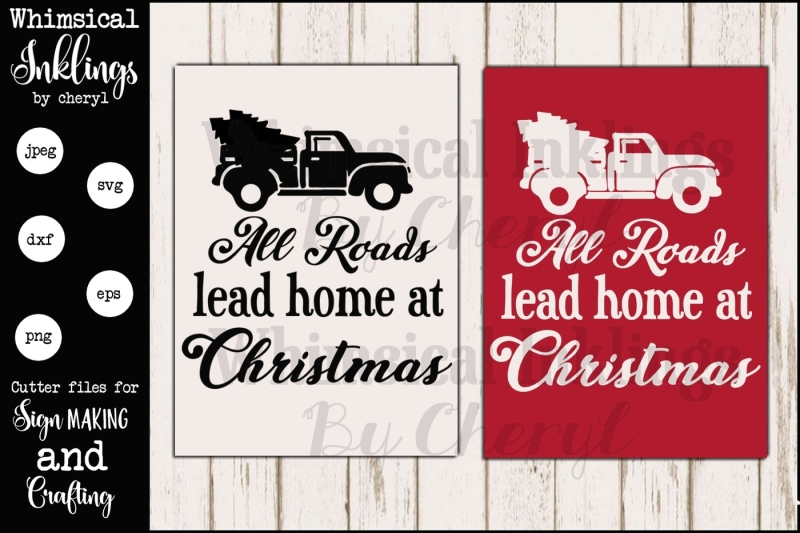 Christmas Jeep Silhouette.Free All Roads Lead Home Christmas Sign Svg Crafter File