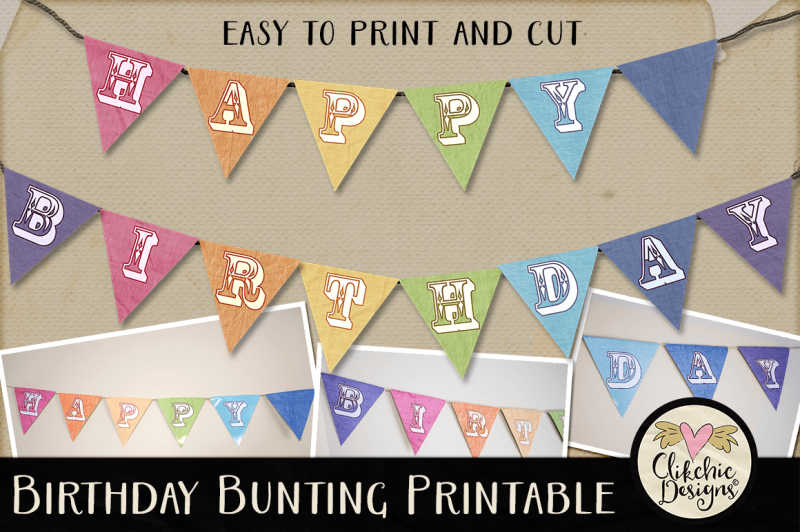 Free Happy Birthday Bunting Printable Crafter File Free Craft Cut File Images