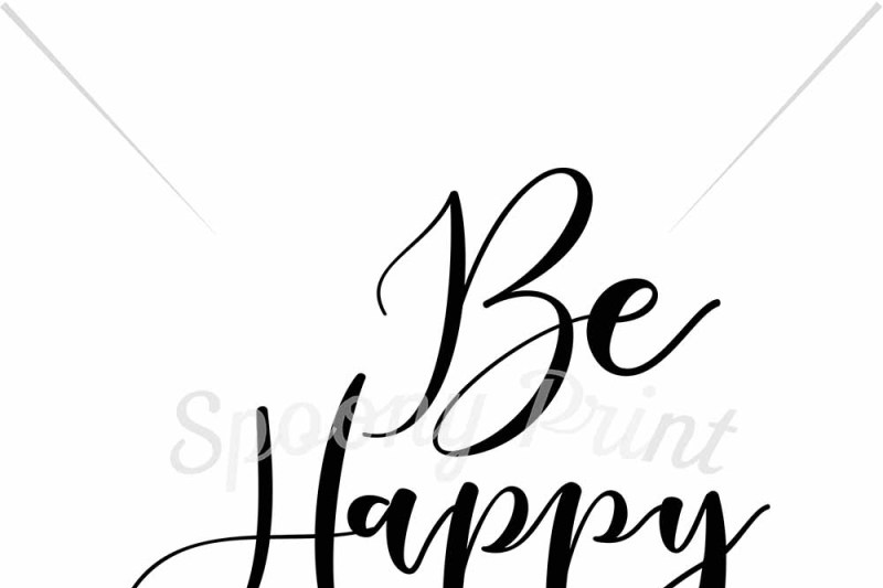 Be Happy By Spoonyprint Thehungryjpeg Com