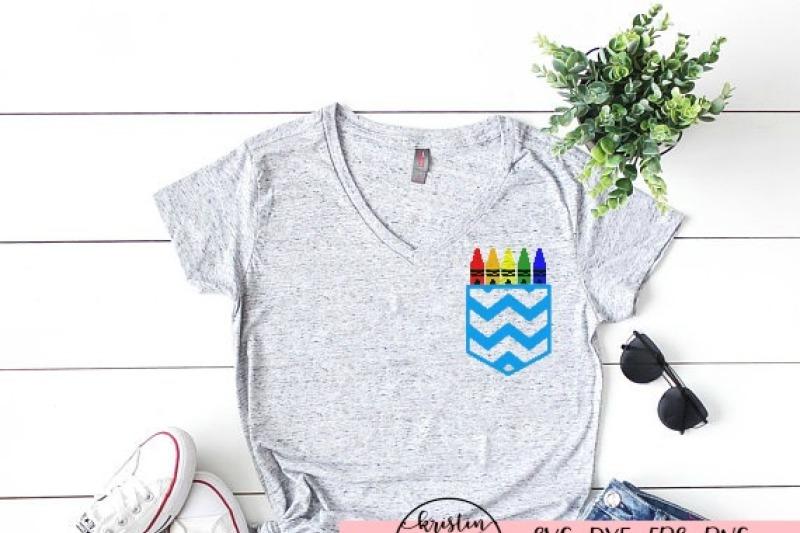 Chevron Teacher Shirt Pocket Svg Dxf Eps Png Cut File Cricut