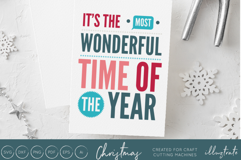 Free It S The Most Wonderful Time Of The Year Christmas Svg Cut File Crafter File The Best Free Svg Files For Cricut Silhouette Cricut Images