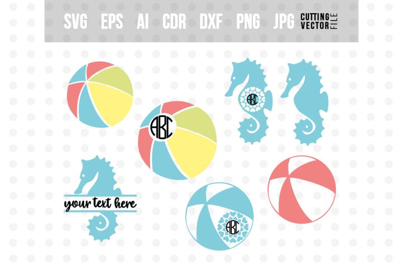 Summer Monogram Bundle Svg Eps Ai Cdr Dxf Png Jpg Design Free Download Svg Files Tea