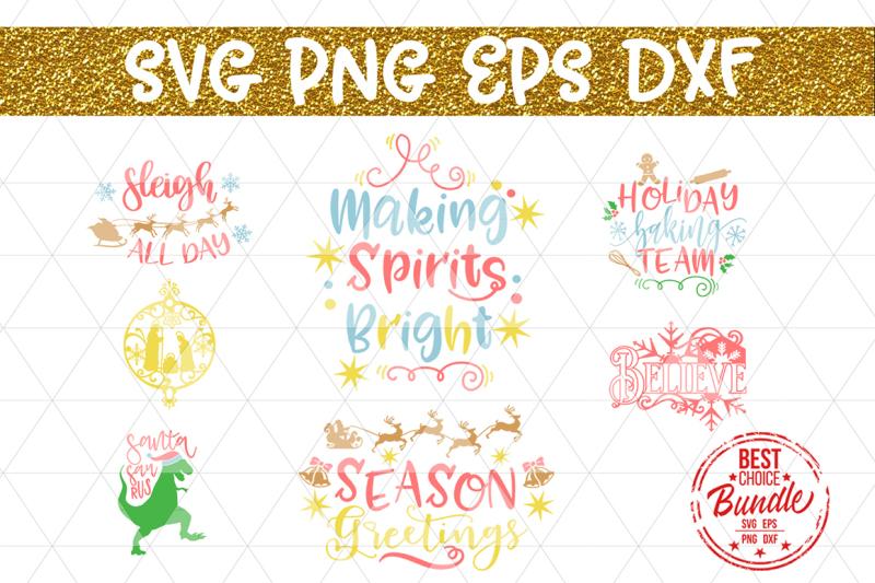 Free Christmas Bundle Svg File Winter Svg Kids Svg Eps Dxf Png Crafter File Cut File Image