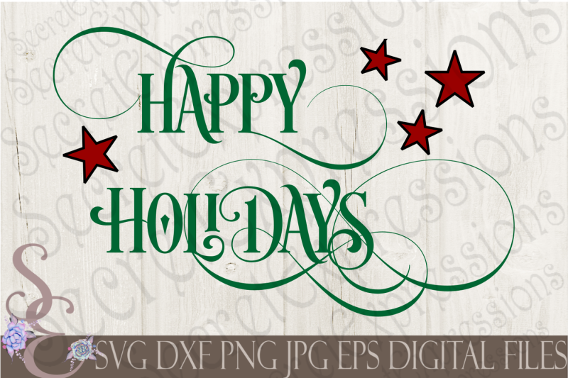 afa76b3315e34e Free Happy Holidays Crafter File - Free SVG Cut Files PNG DXF EPS