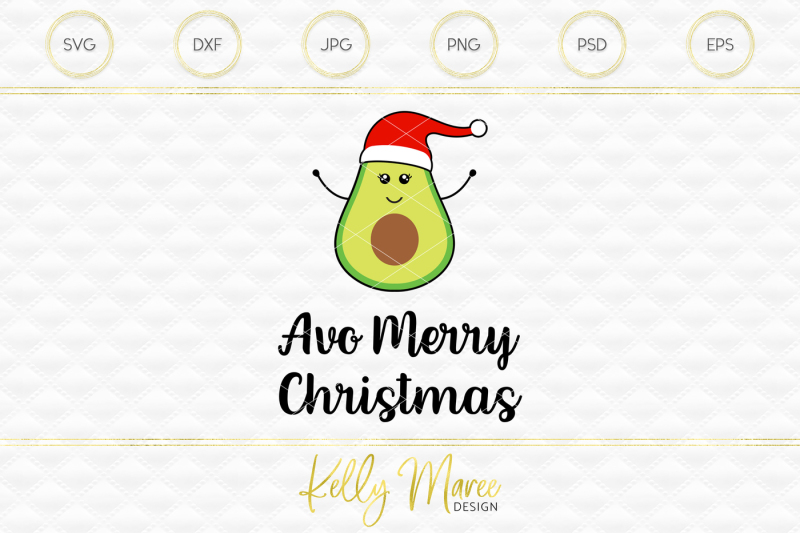 Christmas Avocado Svg File Cut File Silhouette Cricut Design Download Svg Files Music