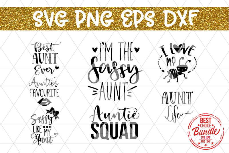 Auntie Svg Bundle Cut Files Svg Eps Dxf Png By Mulia