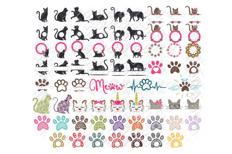 Download Free Cat Svg Monogram Bundle In Svg Dxf Png Jpg Eps Crafter File