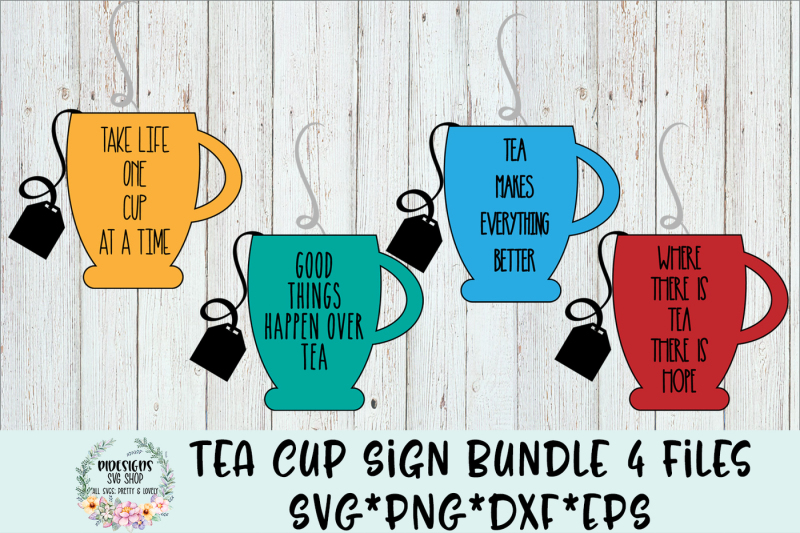 Free Tea Cup Sign Bundle Svg Cut File Crafter File Free Logo Png Images With Transparent Backgrounds