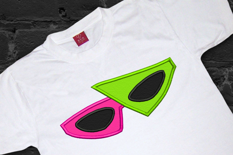 S new wave sunglasses applique embroidery by designed by geeks