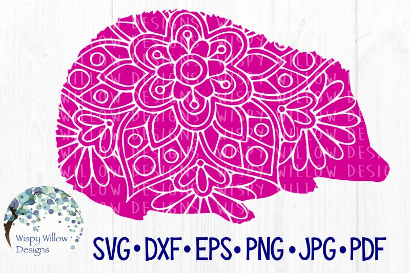 Free Hedgehog Floral Mandala Svg Dxf Eps Png Jpg Pdf Crafter File Download Free Svg Cut Files