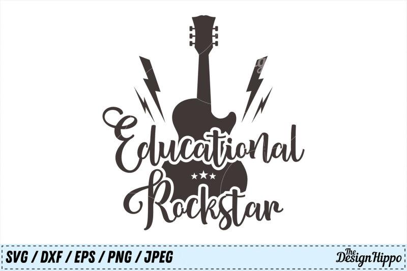 Teacher Educational Rockstar Teacher Life School Svg Png Cut File Design Free Key Svg Icon