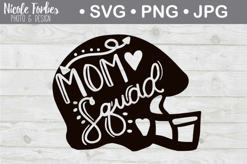 Free Football Mom Squad SVG Cut File Crafter File - Download ...