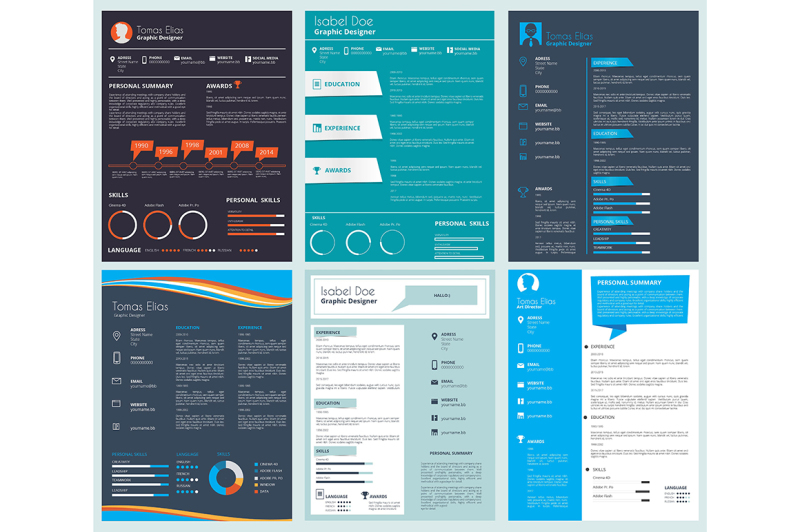 Vector Design Template Of Business Cv Curriculum Vitae By Onyx