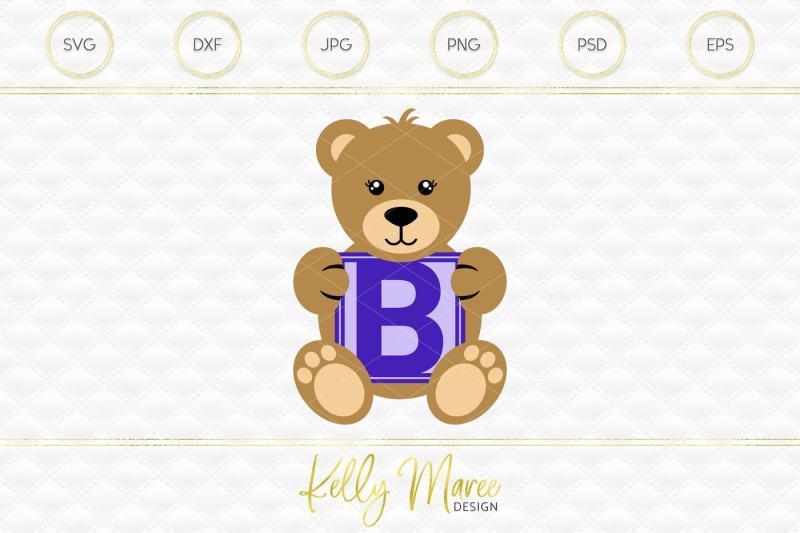 bf4d4696e99 Free Letter B Bear SVG
