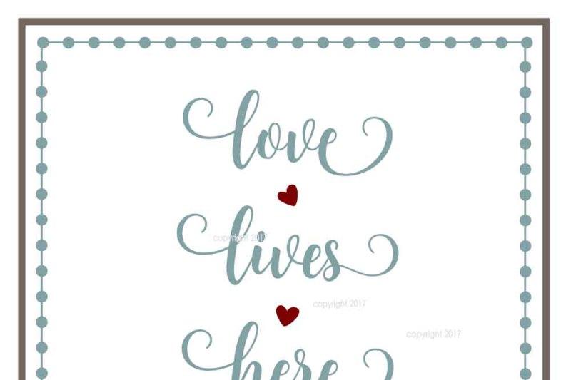 Love Lives Here Svg Cut File By My Vinyl Designer Thehungryjpeg Com