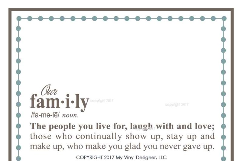 Definition Of Family Svg Cut File Family Svg By My Vinyl