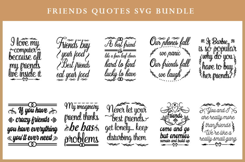 Free Friends Quotes SVG Bundle Crafter File - Free SVG Cut Files
