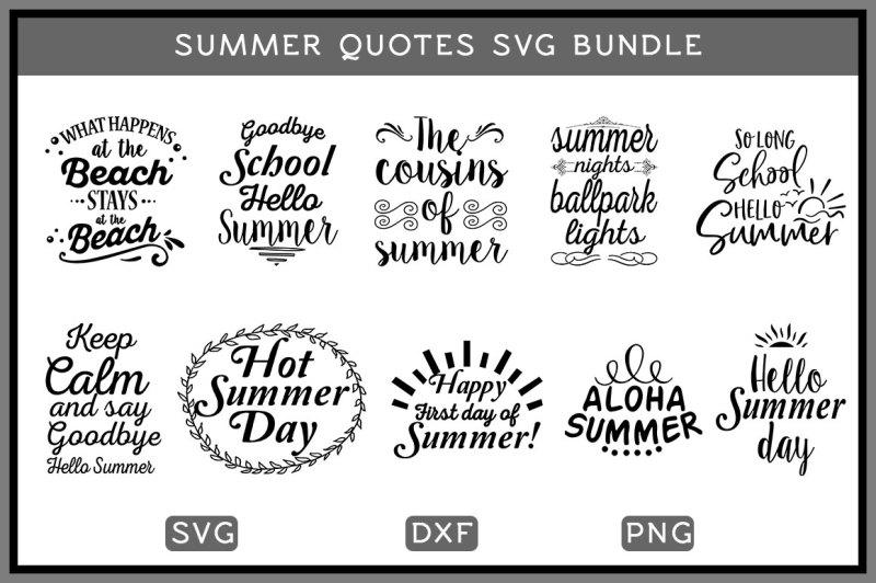 Free Summer Quotes Svg Bundle Svg Free Download Svg Files Spring
