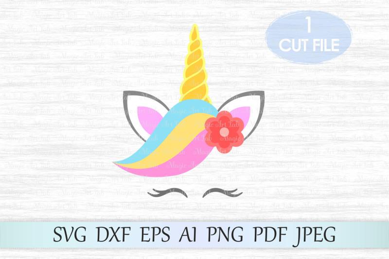 Free Unicorn svg, Unicorn head svg, Unicorn cut file Crafter