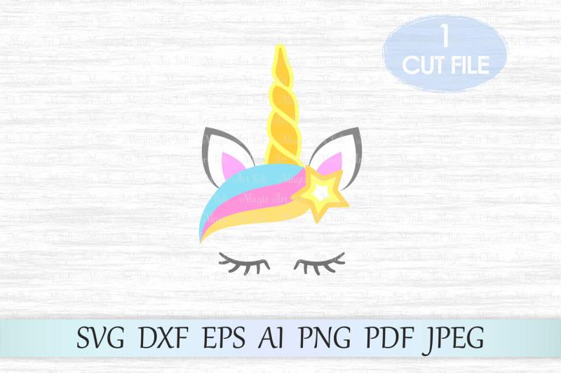 Free Unicorn svg, Unicorn head svg, Unicorn cut file