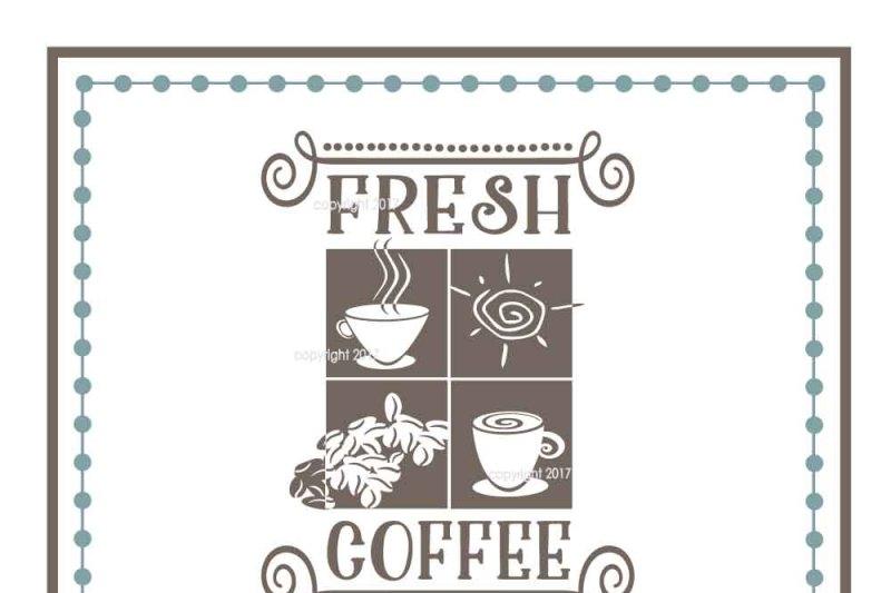 Fresh Coffee Svg Coffee Vector By My Vinyl Designer