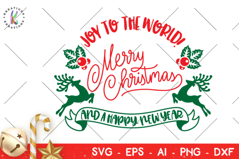 Christmas Svg Joy To The World Svg By Kreationskreations