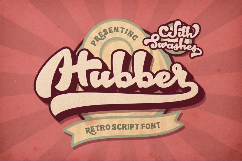Hubber Retro Script Font By LomoHiber | TheHungryJPEG com