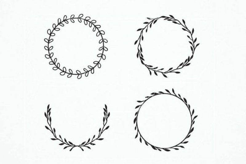 Free Vintage Laurel Wreath Clipart Wreaths Svg Wedding Crafter File