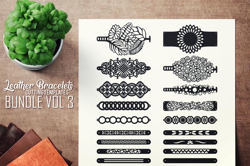 leather bracelets svg - vol iii bundle