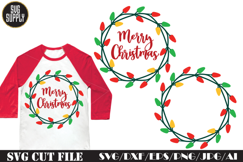 Christmas Lights Svg Cut File By Svgsupply Thehungryjpeg Com