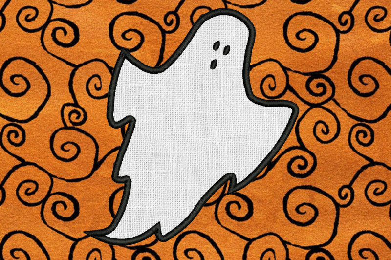 Free Sheet Ghost Applique Embroidery SVG - Free SVG Files Quotes for