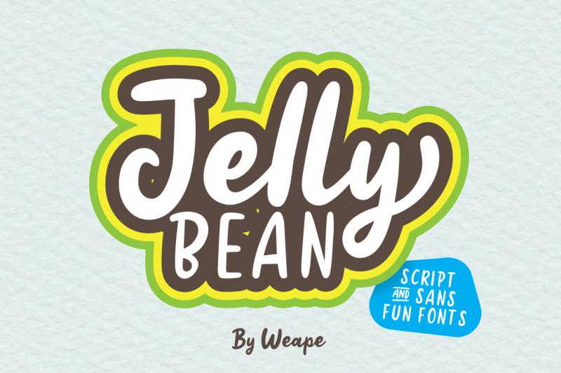 Jellly Bean Script Sans Fun Font By Weape Design Thehungryjpeg Com