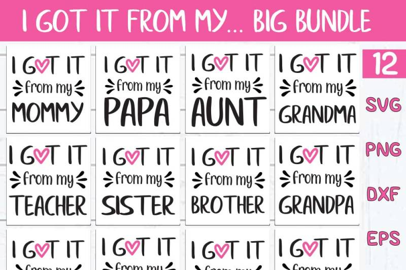 Free I Got It From My Mama Svg Filemama Cricut File Printable And Cut D Svg Free Grass Svg File