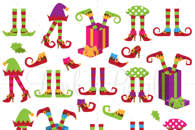 Christmas Elf Legs Clipart Vectors By Devon Carlson
