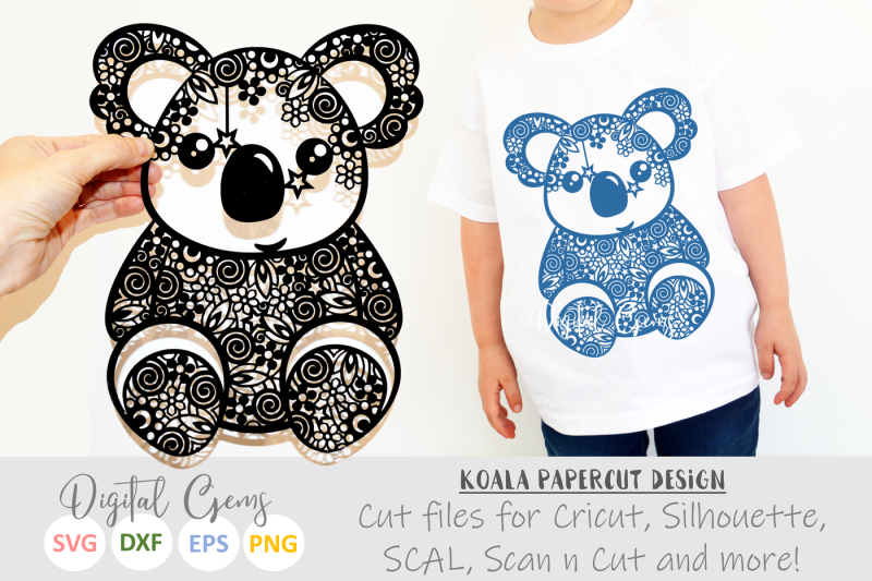 Download Free Koala Bear SVG / DXF / EPS / PNG Files Crafter File