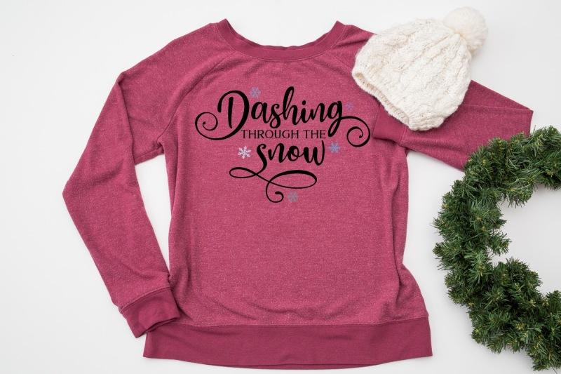 Dashing Through The Snow By Cut Crazy Co Thehungryjpegcom