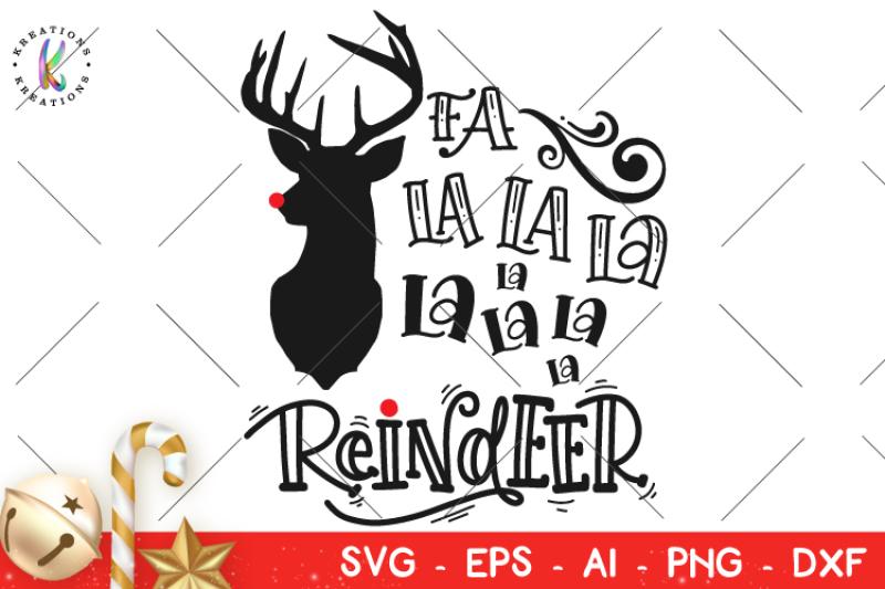 Free Christmas svg Fa La La La Reindeer svg Christmas