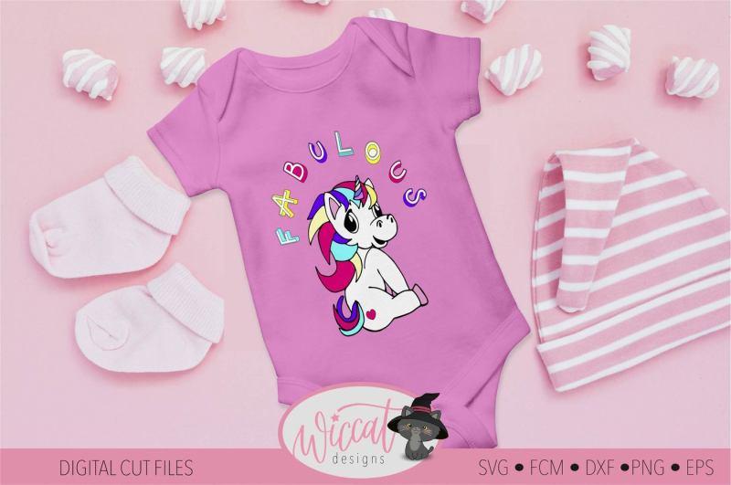 Free Fabulous Unicorn svg, girls shirt svg, Rainbow unicorn