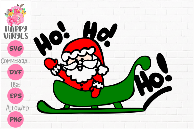 Free Santa In Sleigh Ho Ho Ho Svg Free Svg Files For Silhouette Cameo