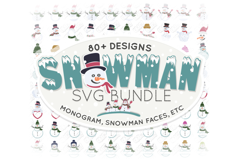Snowman Svg Monogram Christmas In Svg Dxf Png Eps Jpeg Design Free Download Svg Files Family