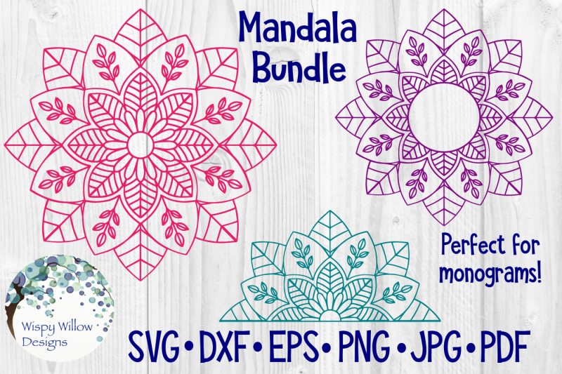 Download Free Mandala SVG Bundle | Monogram Crafter File