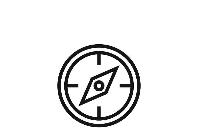 Compass Symbol Or Discovery Navigation Vector Icon By Microvector