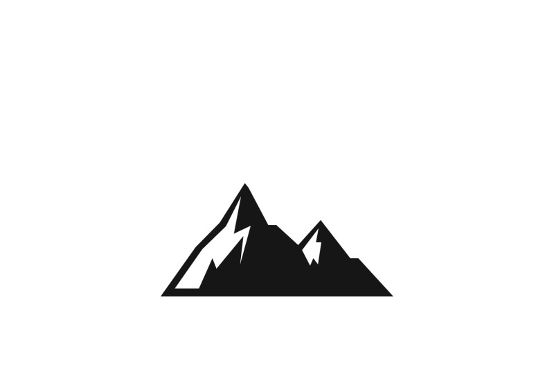 Mountains Vector Icon By Microvector Thehungryjpeg Com